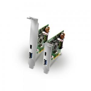 Placa PCI-Express 2.0 X4 USB 3.1 (10Gbps) c/ conectores tipo USB A e USB-C