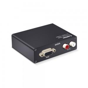 Conversor HDMI para VGA + Áudio