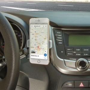 Suporte Veicular para Smartphone com fixação na grade de ventilação