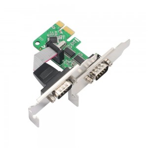 Placa PCI-Express X1 Low Profile - 2 Portas Seriais