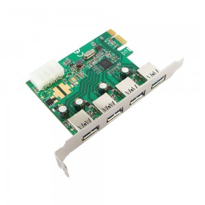 Placa PCI-Express USB 3.0 - 4 Portas