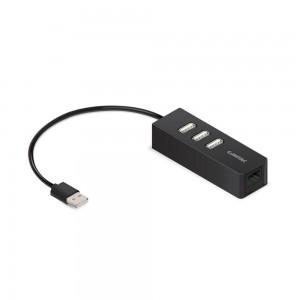 Conversor USB 2.0 -> LAN 10/100 com HUB USB 3 Portas