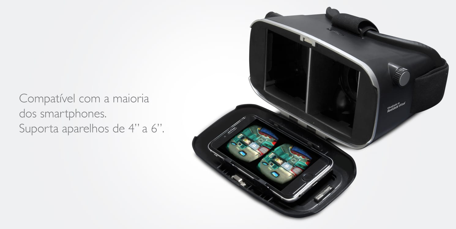 Óculos de Realidade Virtual 3D para Smartphone - COMTAC - 9351 - Óculos de Realidade  Virtual no CasasBahia.com.br 602ecea77a